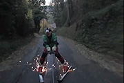 Maxime Renard urban skiing