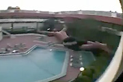 Insane pool dive