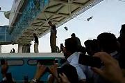Bus hanging