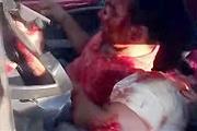 trapped after car crash