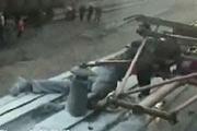 Eletrocuted train surfer