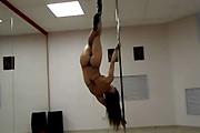High heel pole dance