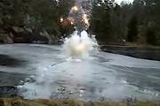 fireworks under ice