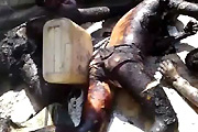 Burned bodies
