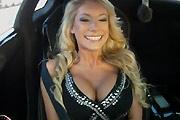 Sexy Jenni in a Racing Lamborghini