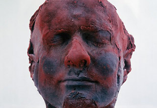 Heads made of frozen blood
