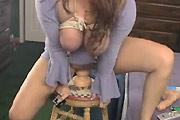 Kinky Wife Riding Giant Dildo