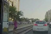 Girl Hit By A Tram