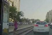 Girl Hit By A Tram
