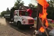 Truck Stunt With Fire Goes Terribly Wrong