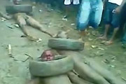 Naked Men Brutally Beaten And Burned alive In Nigeria