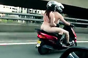 Naked Scooter Ride