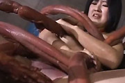 Girl Abused By Tentacles