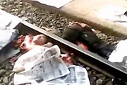 Cut In Half After Jumping In Front Of Train