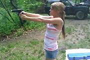 Girl shoots a Glock 23