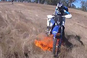 Dirt Bike Causes Wildfire