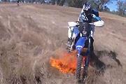 Dirt Bike Causes Wildfire