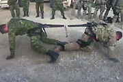 One on one soldier tug of war