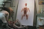 painting with autopsy cadaver