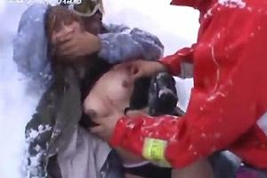 Snowboarding Girl Raped
