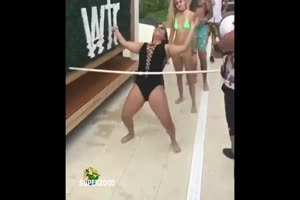 Bathing Suit Limbo Dance Fail