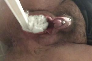 Huge Clit Brush Stimulation