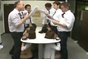 Japanese Conference Room Blowjob