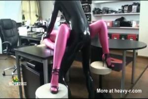 Pink Catsuit Pussy Pounded