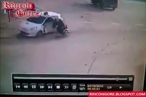 brutal motorcycle crash