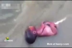 Girl having an overdose