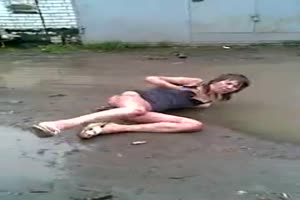 Whore in a muddy puddle