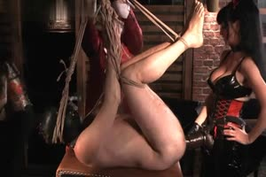 Slave Strap-on Gang Banged by Mistresses