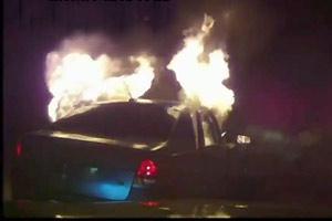 Car explodes after use taser