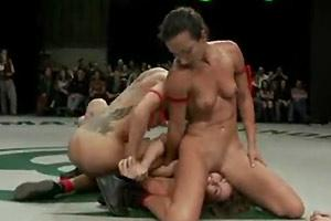 Naked Female Wrestling Match