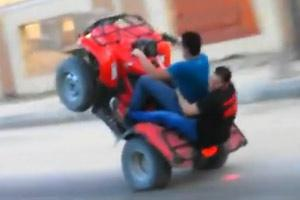 Quad Wheelie Gone Bad
