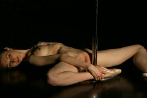 Flexibele Ballerina Naked Dancing