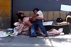 Homeless Guy Caught Molesting Passed Out Woman