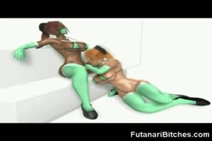 3D Busty Futanari Bitches Fucking!