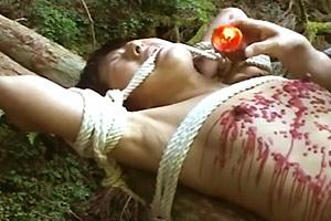 Asian Woman Candle Wax tortured