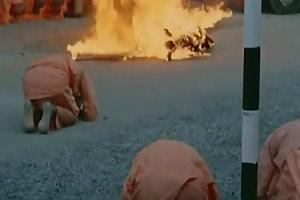 Buddist Monk Self Immolates