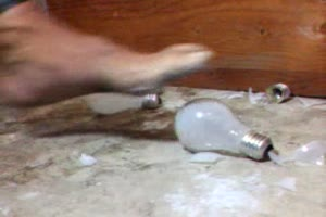 FOOT VS LIGHTBULB