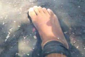 barefoot VS firecrackers