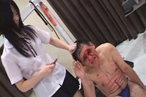 Girls Cut Up Mans Face