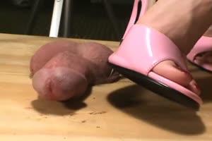 Needle Heel Scrotum Piercing