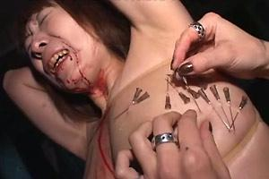 Bloody Face And Tit Tortured Asian