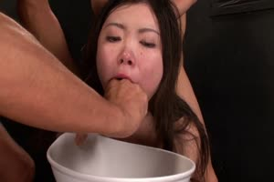 Naked Girl Forced Gagging and Puking