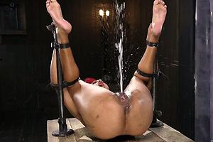Bound Slave Squirts Like A Fountain