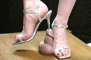 Cock Trampled And Stiletto Sounded