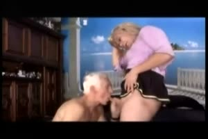 Grandpa Swallows Tranny Load