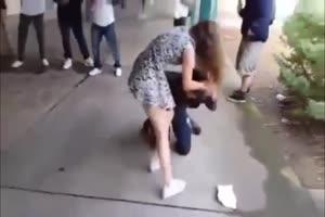 Teen Girl Beats Up Black Guy